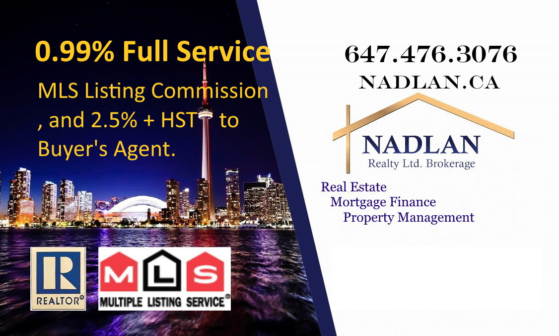 nadlan realty 0.99 % full service mls listing commission