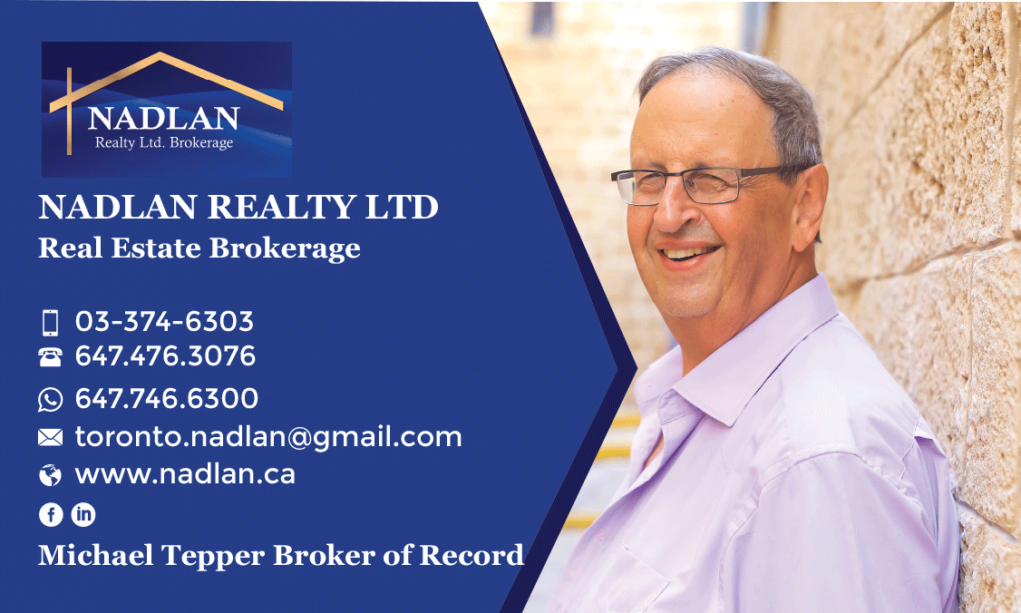 Michael Tepper- real estate broker & owner Nadlan realty in Toronto